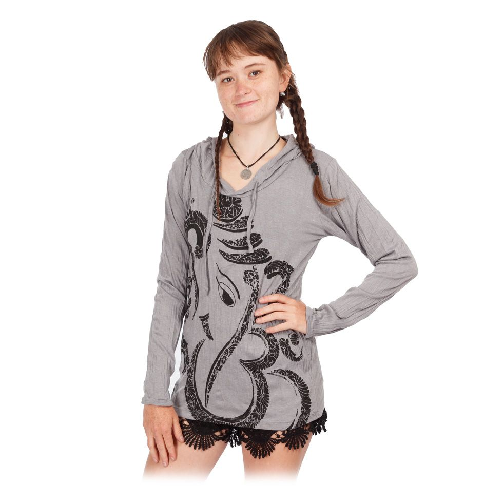 Tričko Sure s kapucňou Elephant Grey Thailand
