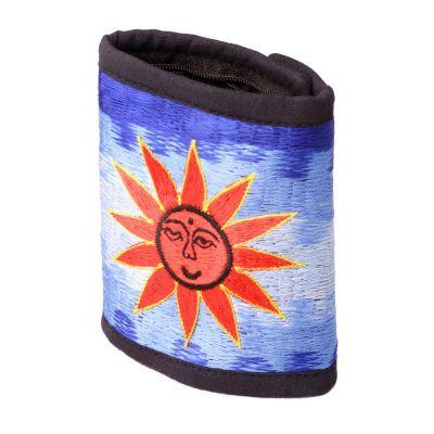 Vyšívaná peňaženka Slnko