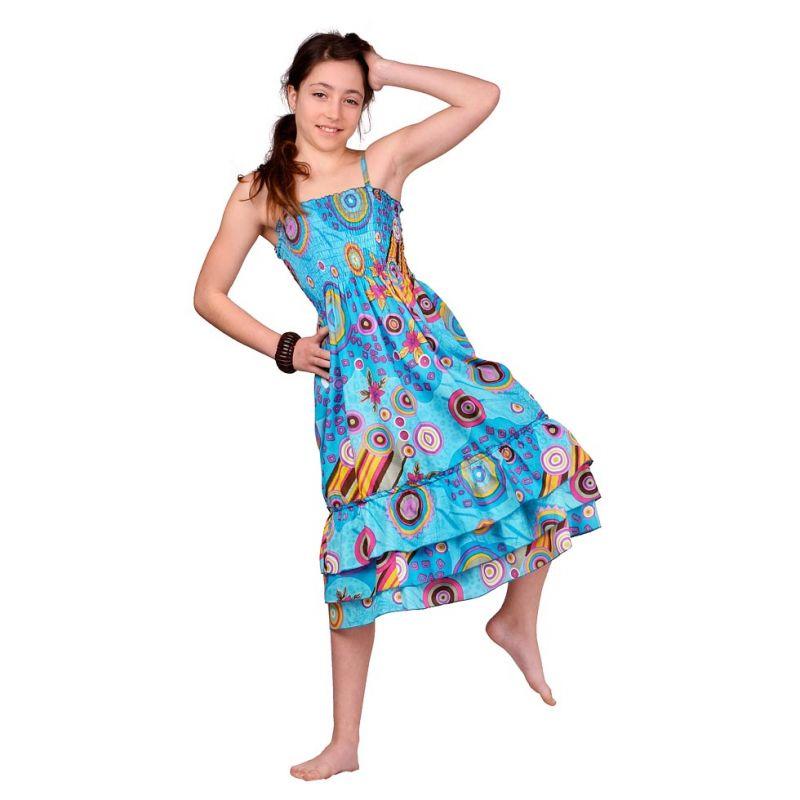 Detské šaty Mawar Turquoise