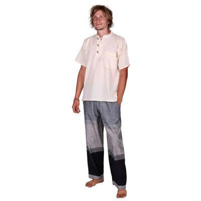 Kurta Pendek Putih - pánska košeľa s krátkym rukávom | S, M, L, XL, XXL, XXXL