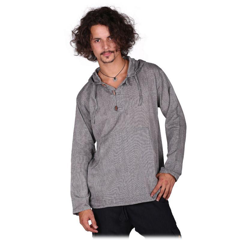 Kurta Ganet Glaum - pánska košeľa s dlhým rukávom Nepal