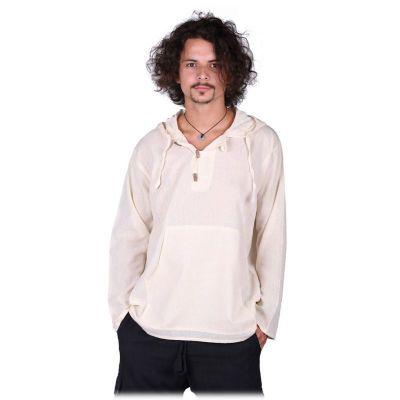 Kurta Ganet Putih - pánska košeľa s dlhým rukávom | M, XXL, mikina M, mikina L, mikina XL, mikina XXL