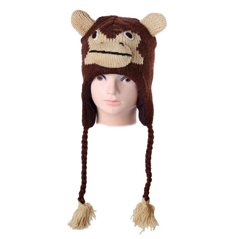 Vlnená čiapka Opica