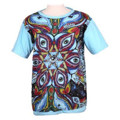 Tričko značky Mirror - Eye Mandala Turquoise | M, XL