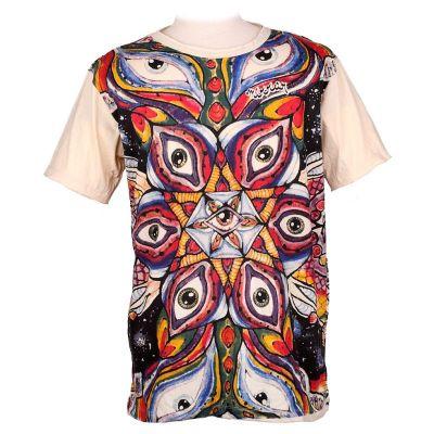 Tričko značky Mirror - Eye Mandala Yellow | XL