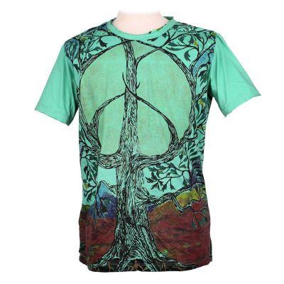 Tričko značky Mirror - Tree of Peace Turquoise | M, L, XL