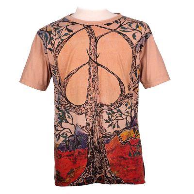 Tričko značky Mirror -Tree of Peace Brown | M, L, XL