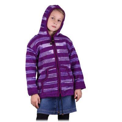 Vlnený sveter Purple Queen