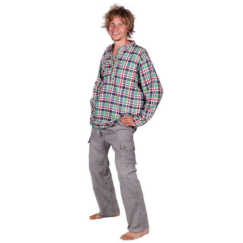Pánske bavlnené nohavice Saku Kelabu Nepal