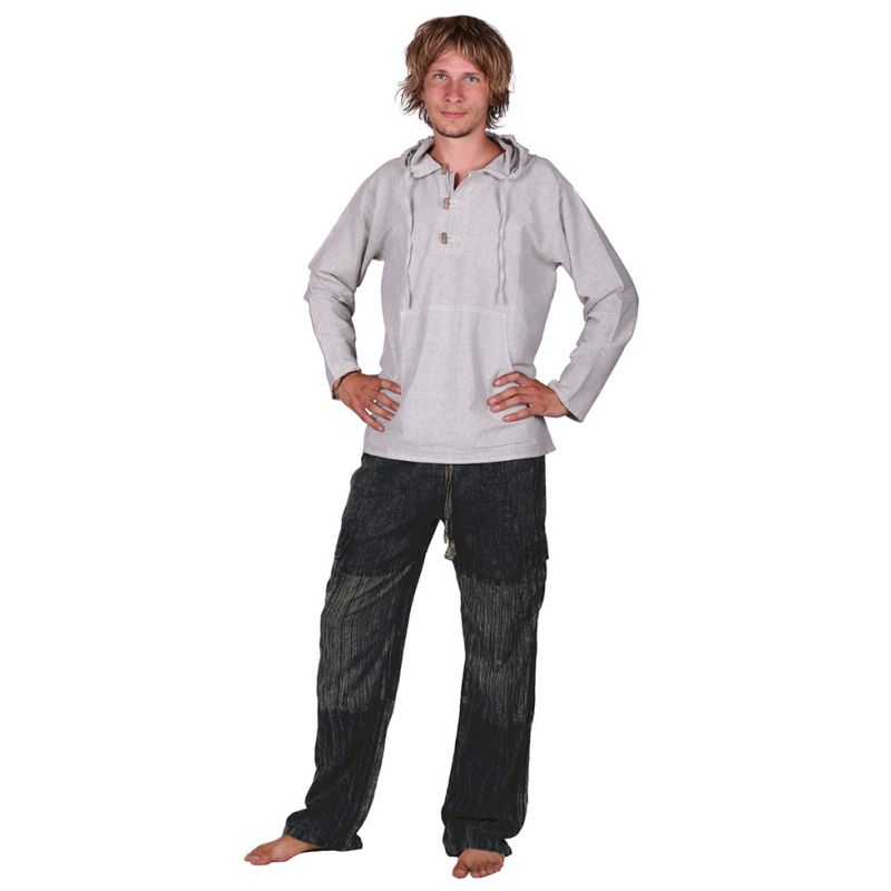 Pánske bavlnené nohavice Kirtipur Hitam Nepal