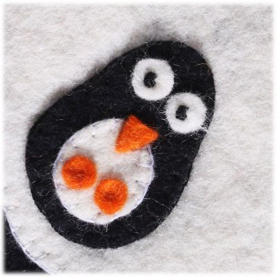 Plstená kabelka Tučniak