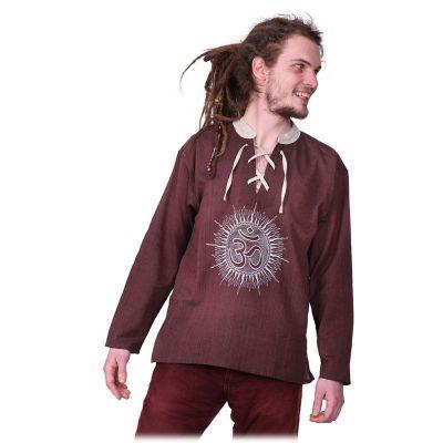 Kurta Matahari Hutan - pánska košeľa s dlhým rukávom | M, XXL