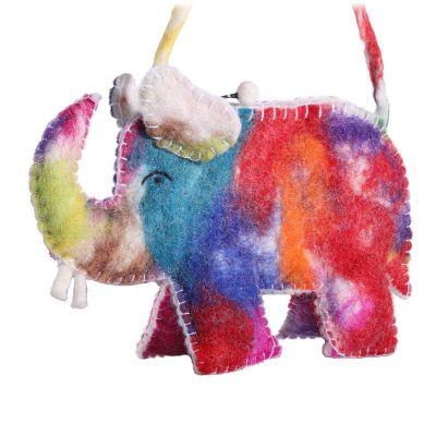Plstená kabelka Pestrofarebný slon