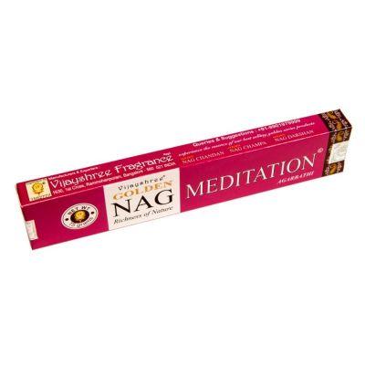 Vonné tyčinky Golden Nag Meditation | Krabička 15 g, Balenie 12 krabičiek za cenu 10