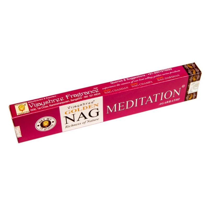 Vonné tyčinky Golden Nag Meditation India
