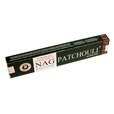 Vonné tyčinky Golden Nag Patchouli | Krabička 15 g, Balenie 12 krabičiek za cenu 10