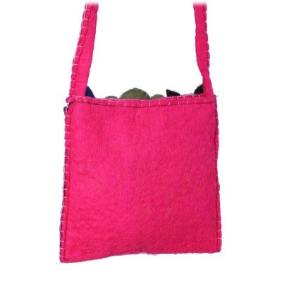 Plstená detská kabelka Zvieratká Ružová