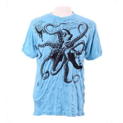 Pánske tričko Sure Octopus Attack Turquoise | M, L, XL, XXL