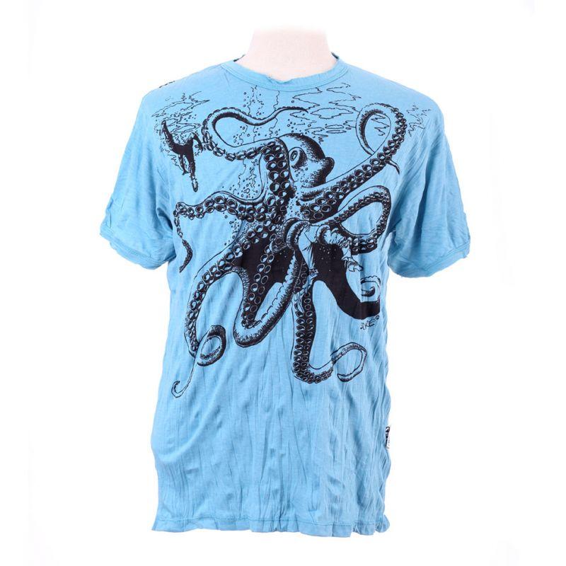 Pánske tričko Sure Octopus Attack Turquoise