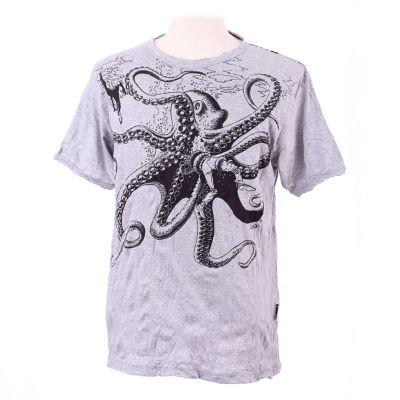 Pánske tričko Sure Octopus Attack Grey | M, L, XL, XXL