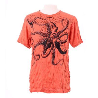 Pánske tričko Sure Octopus Attack Orange | M, L, XL, XXL