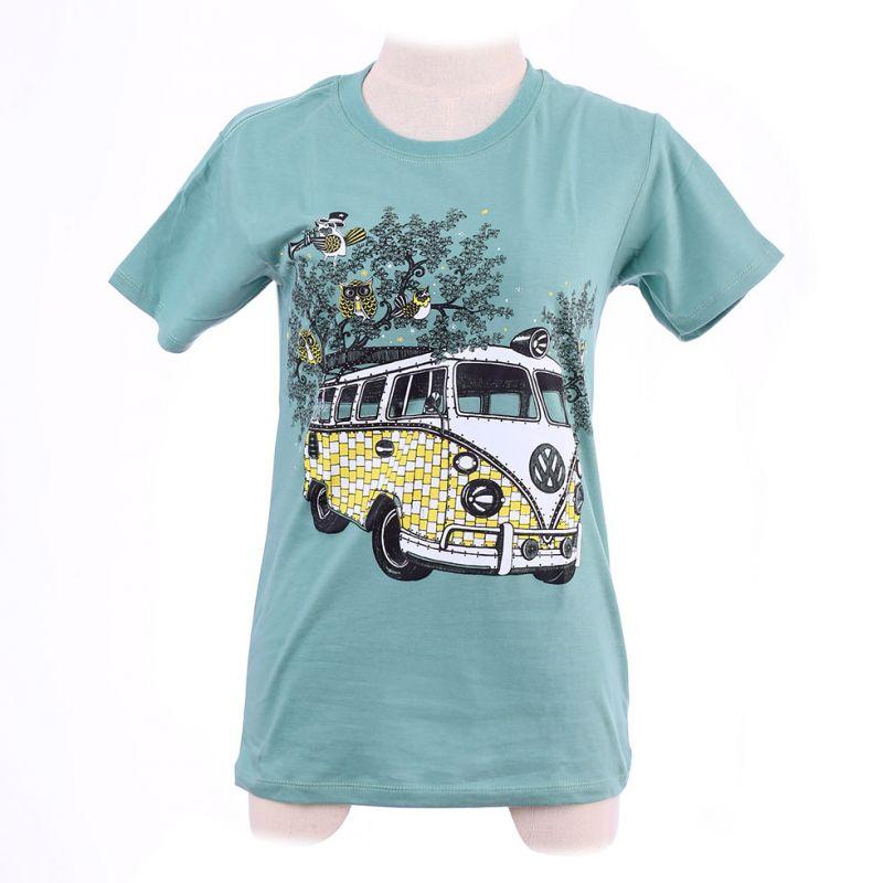 Dámske tričko Hippies Bus Green Thailand