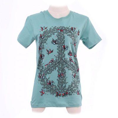 Dámske tričko Hippie Birds Green | XS