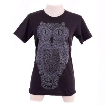 Dámske tričko Big Owl Black   L