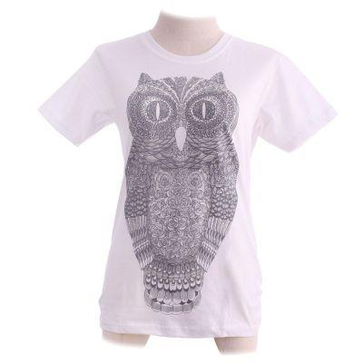 Dámske tričko Big Owl White   XS, M
