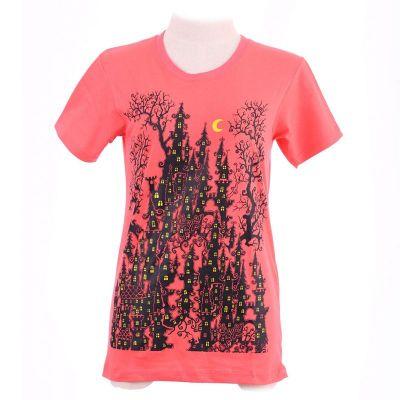 Dámske tričko Haunted Castle Pink   XS, S