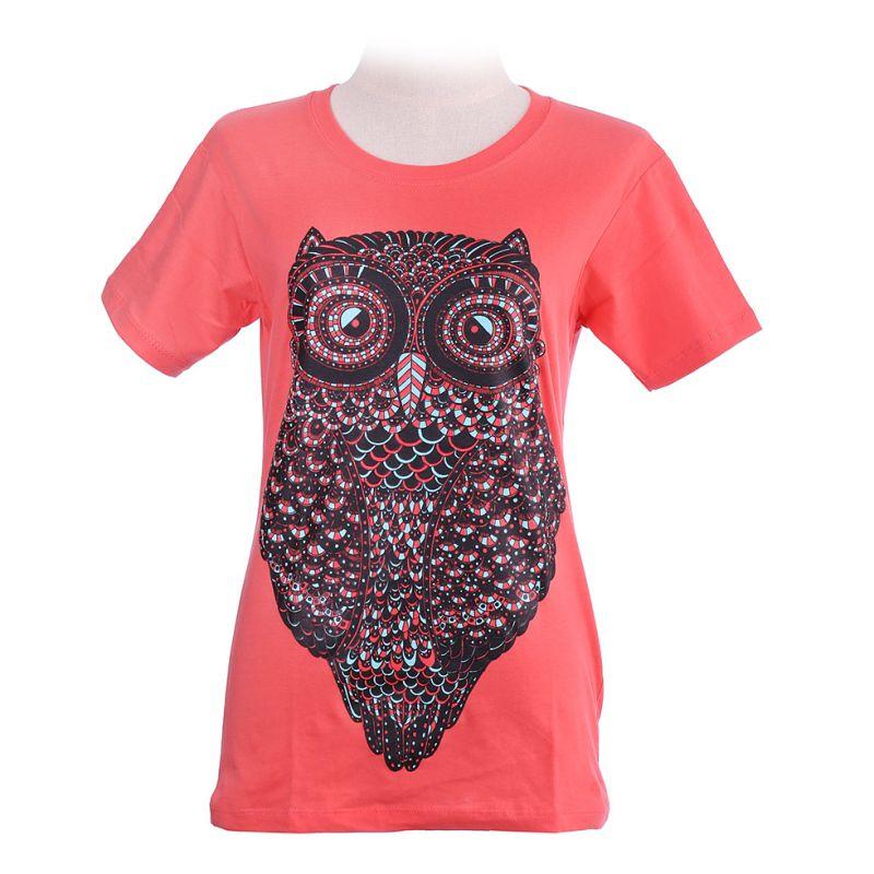Dámske tričko Big Owl Pink
