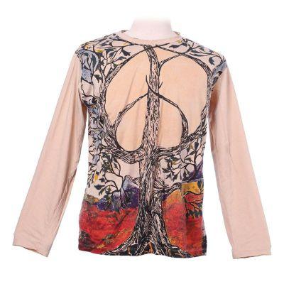 Tričko Mirror s dlhým rukávom - Tree of Peace Beige | M, L, XL