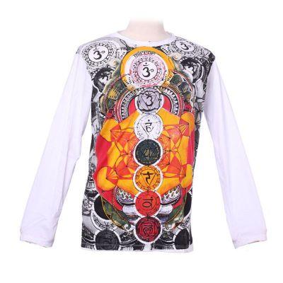 Tričko Mirror s dlhým rukávom - Chakras | M, XL