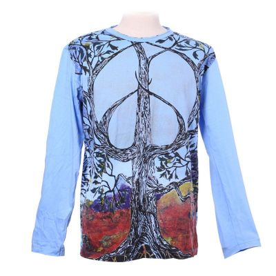 Tričko Mirror s dlhým rukávom - Tree of Peace Blue | M, L, XL