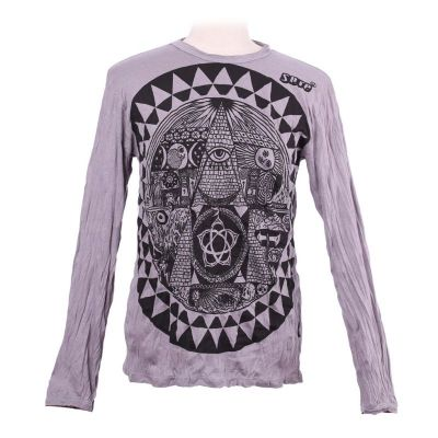 Pánske tričko Sure s dlhým rukávom - Pyramid Grey | M, L, XL