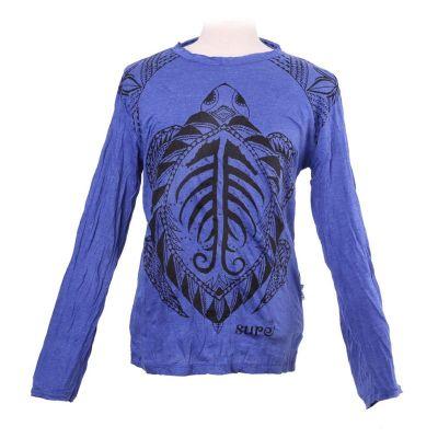 Pánske tričko Sure s dlhým rukávom - Turtle Blue | M, L, XL