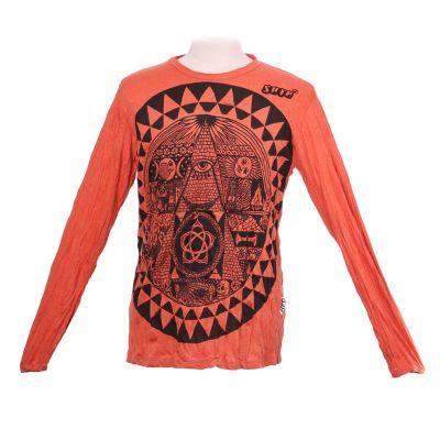Pánske tričko Sure s dlhým rukávom - Pyramid Orange | M, L, XL