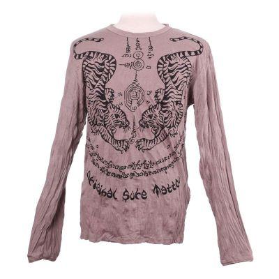Pánske tričko Sure s dlhým rukávom - Tigers Brown | M, L, XL