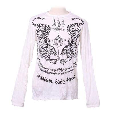 Pánske tričko Sure s dlhým rukávom - Tigers White | M, L, XL