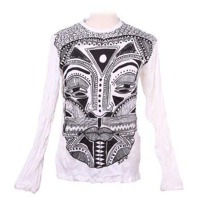 Pánske tričko Sure s dlhým rukávom - Khon Mask White   M, L, XL