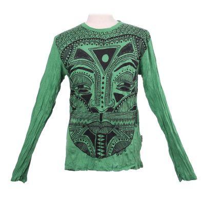 Pánske tričko Sure s dlhým rukávom - Khon Mask Green   M, L, XL