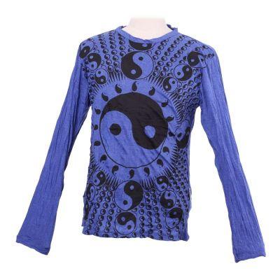 Pánske tričko Sure s dlhým rukávom - Yin&Yang Blue | M, L, XL