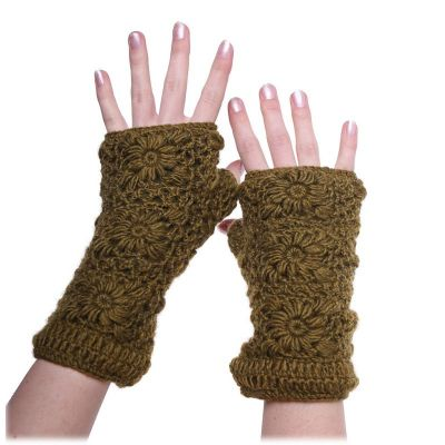 Návleky na ruky Bardia Khaki   nátepníky, sada čelenka a nátepníky